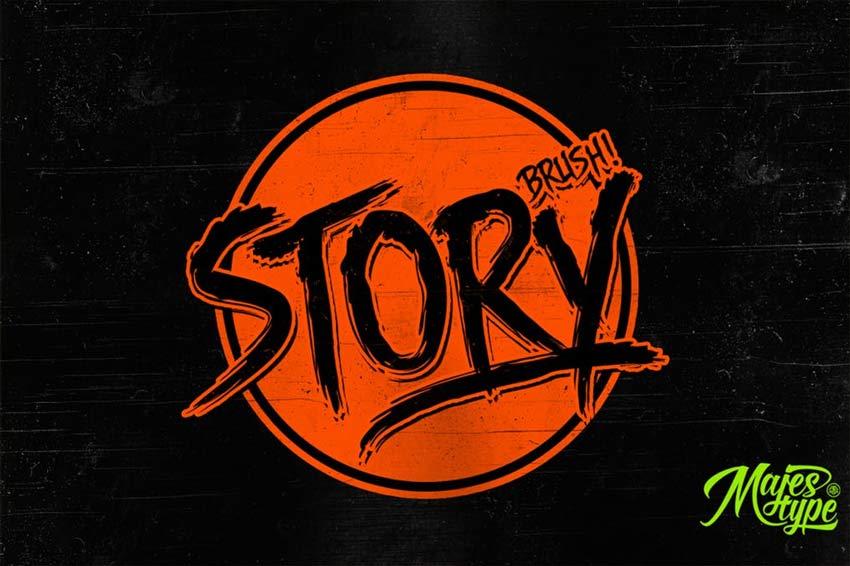Story Brush Eighties Horror Font
