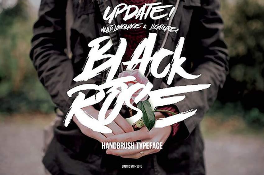 Black Rose Old Horror Movie Poster Font