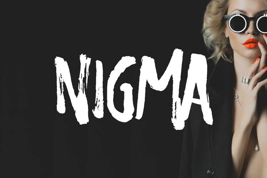Nigma - Brush Old Horror Film Poster Font