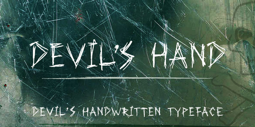 Devils Hand Creepy Writing Font