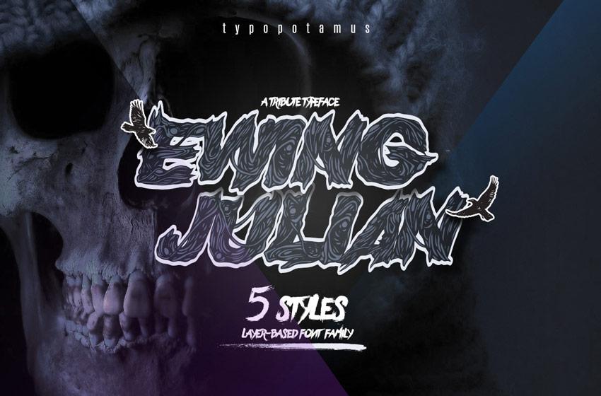 Ewing Julian Typeface Eighties Horror Font