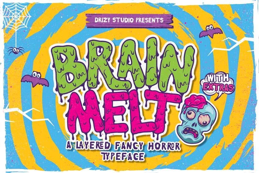 Brain Melt Zombie Movie Font