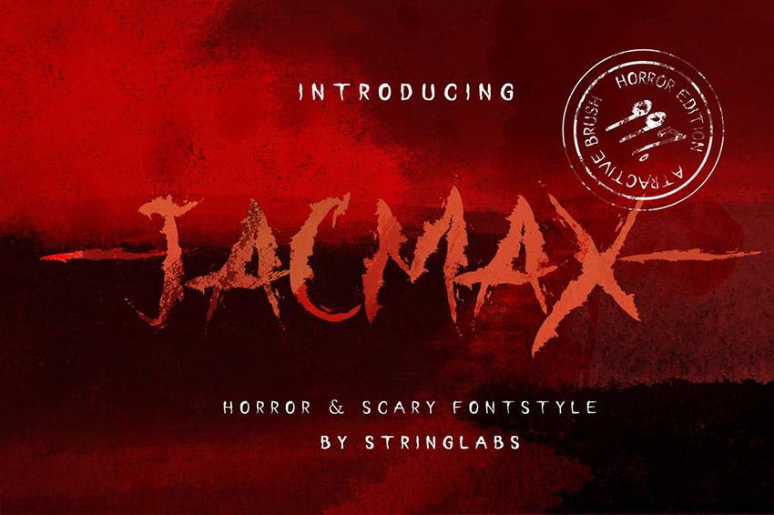 Jacmax Horror Font