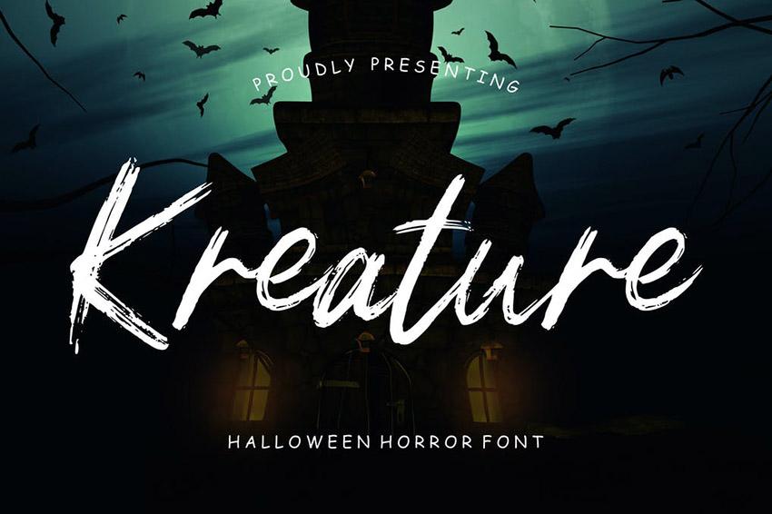 Kreature Halloween Horror Font