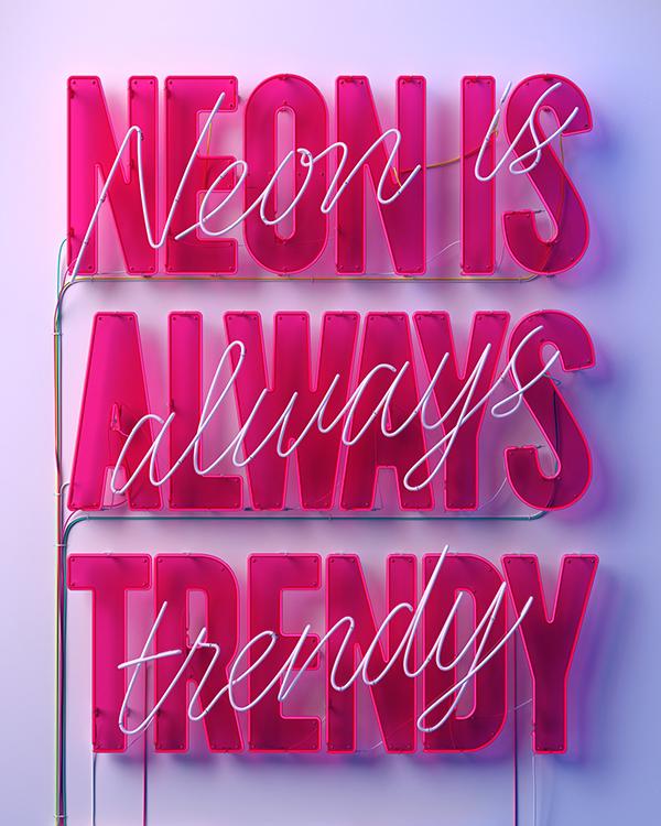 NEON IS ALWAYS TRENDY by Marc Urtasun