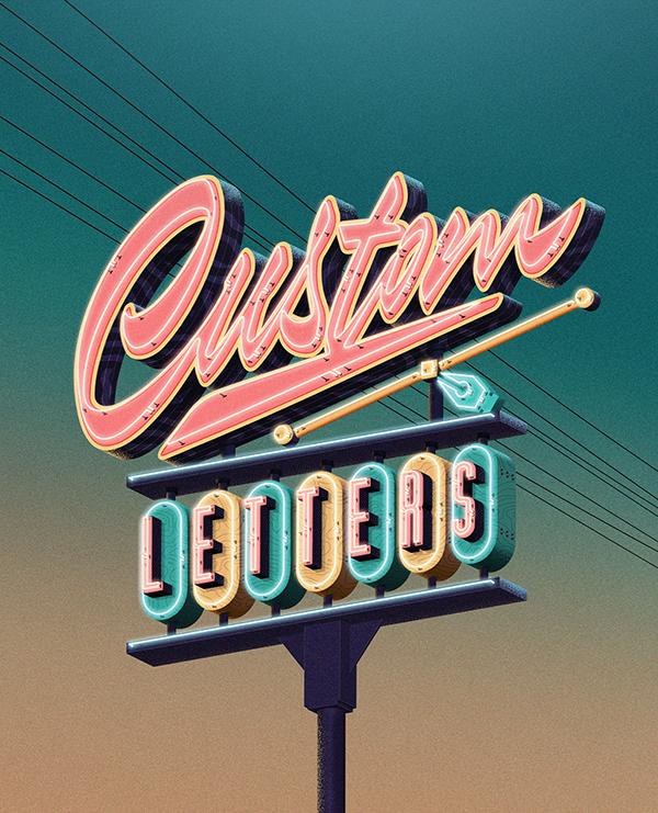 Custom Lettering Love by Jonathan Ortiz