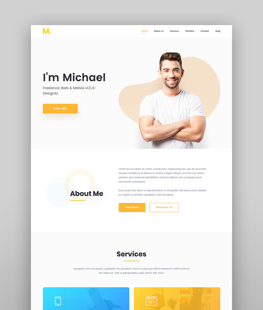 Mak - Personal Portfolio  Resume WordPress Theme