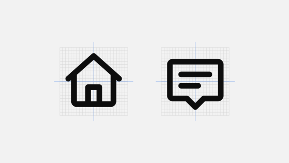 Mono icons alignment