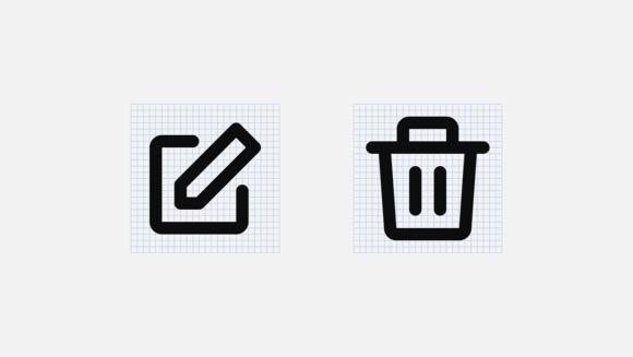 Mono icons grid