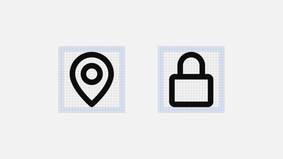Mono icons padding