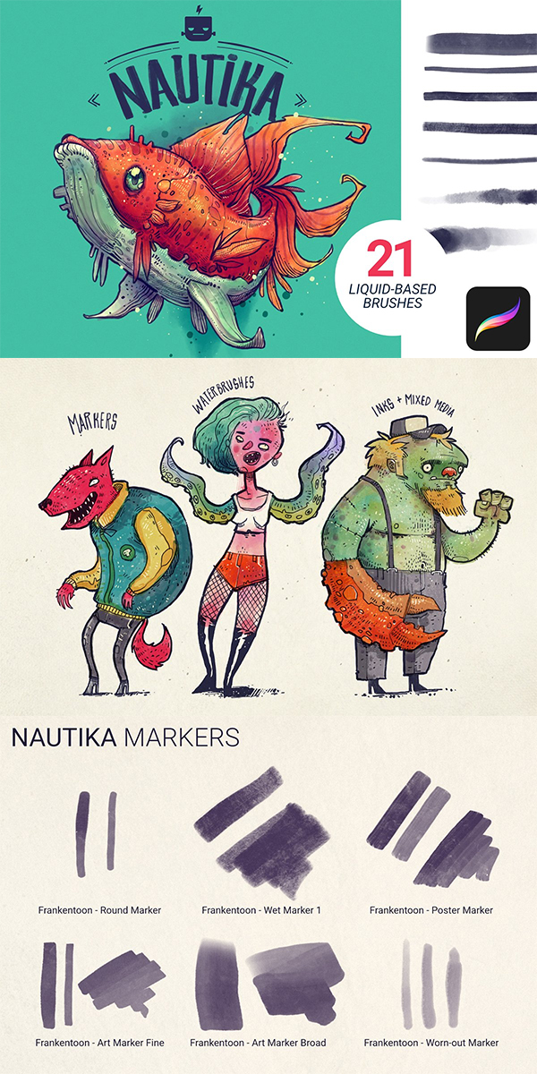 Nautika - Brush Pack for Procreate