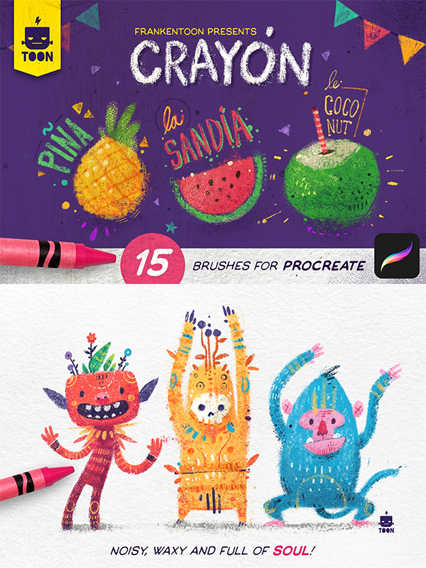 Crayon - Procreate Brush Pack
