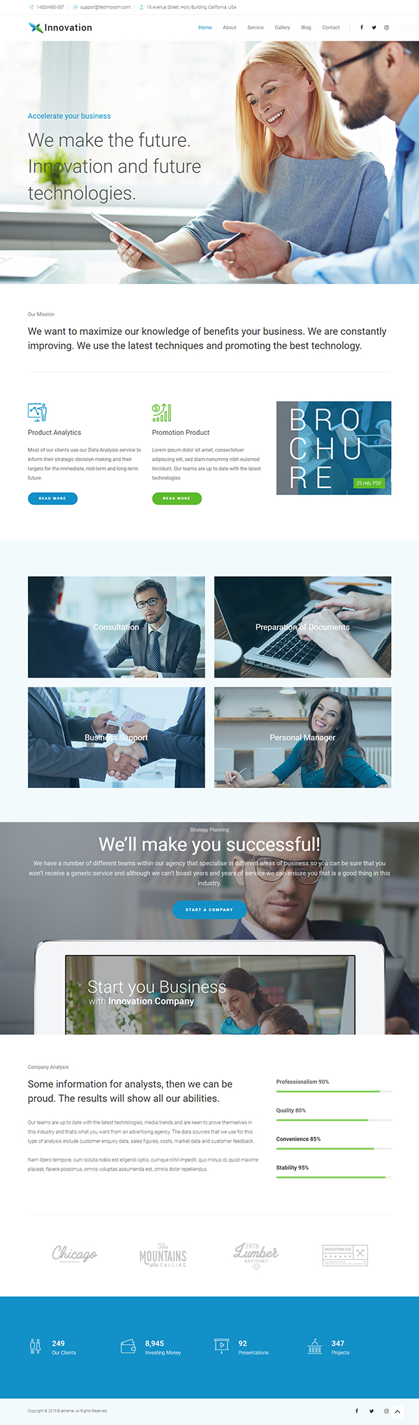 Innovation Business Corporate WordPress Theme
