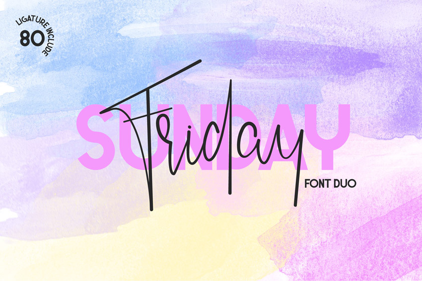 Friday Sunday Font Duo