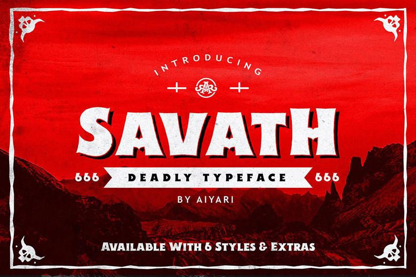 Savath Creepy Font