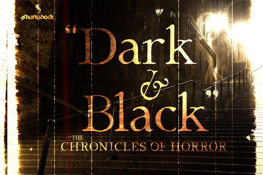 Dark And Black Scary Text Font
