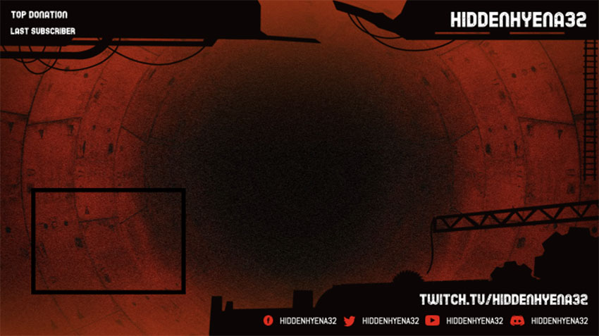 Infinite Twitch Overlay Template With Web Frame