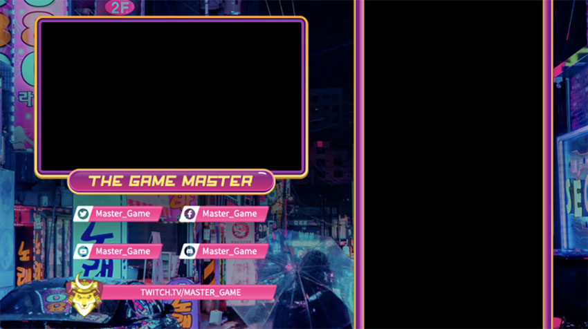 Twitch Overlay Maker Featuring Japanese Style Game Graphics