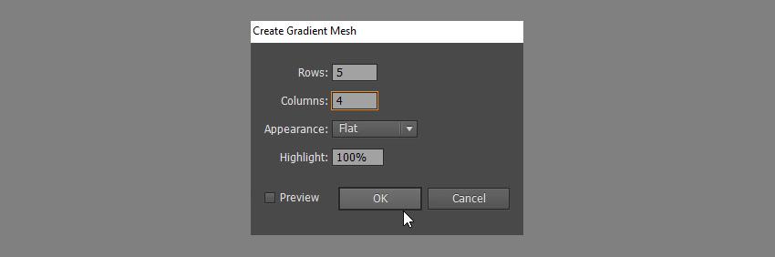 create gradient mesh