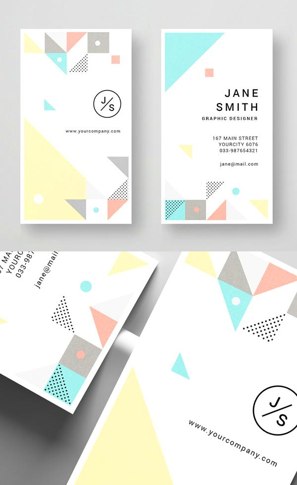 Geometric Business Card Design