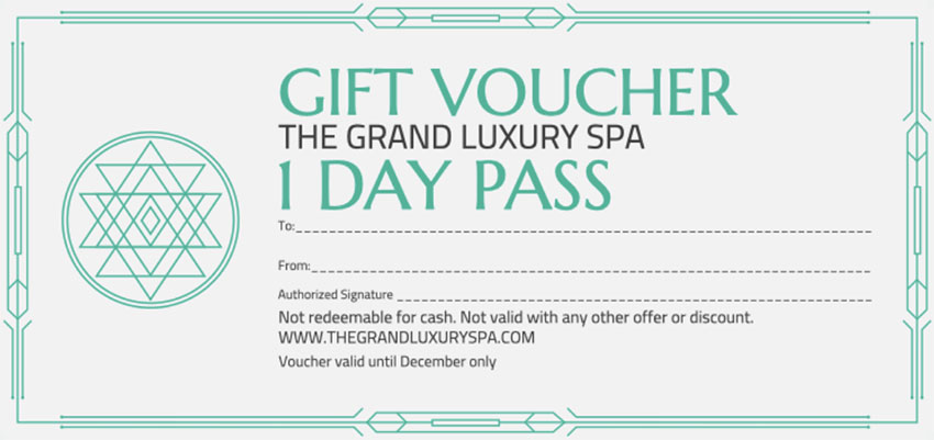 Business Gift Certificate Template for Spa Day