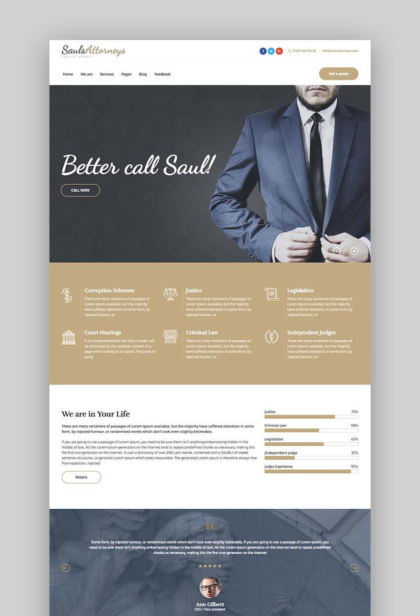 SaulsAttorneys legal WordPress theme