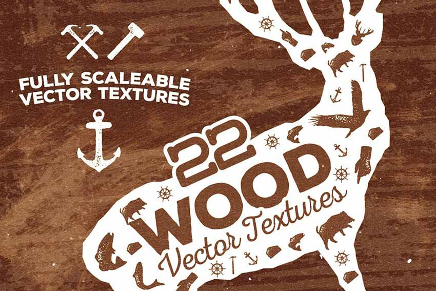 22 Wood Texture Vector Illustrator