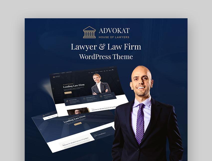 Advokat Law Firm Template WordPress