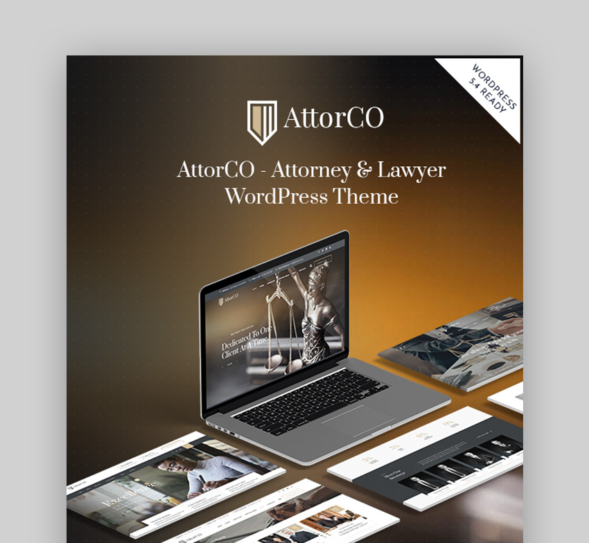 AttorCoWordPress theme for law firms