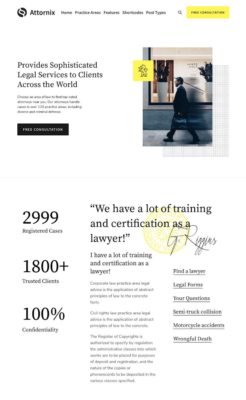 Attornix - Lawyer WordPress Theme