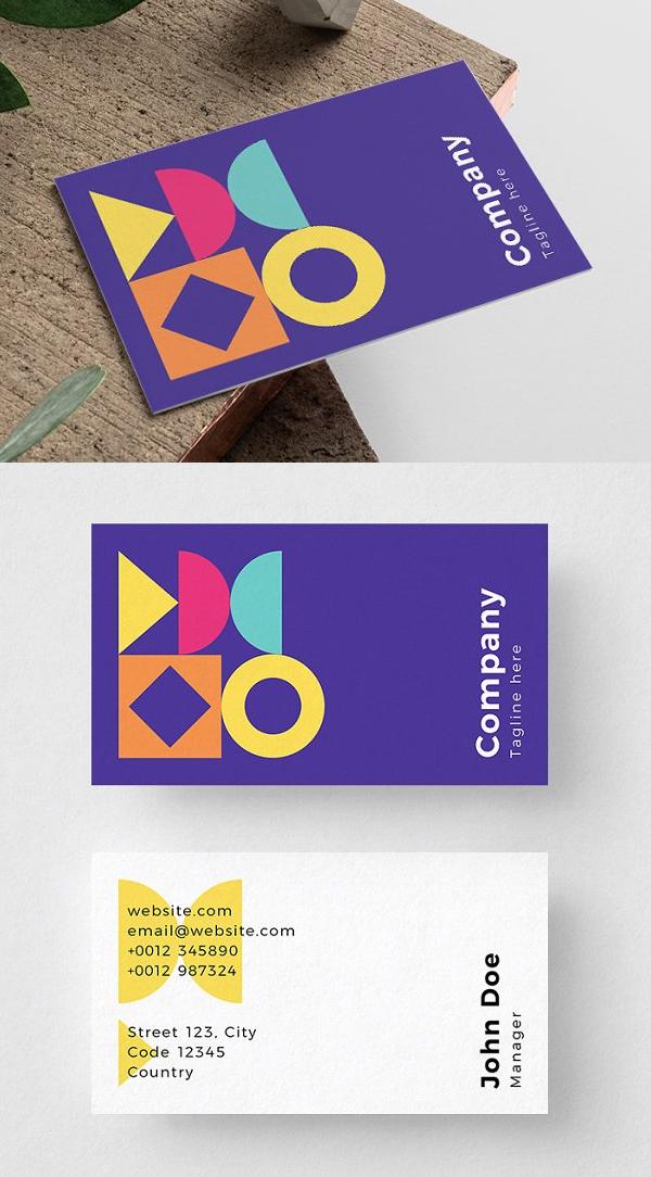 Vivid Business Card Template