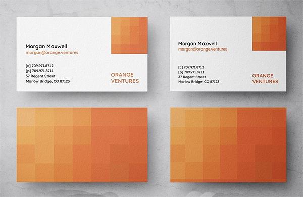 Orange Ventures Business Card Design