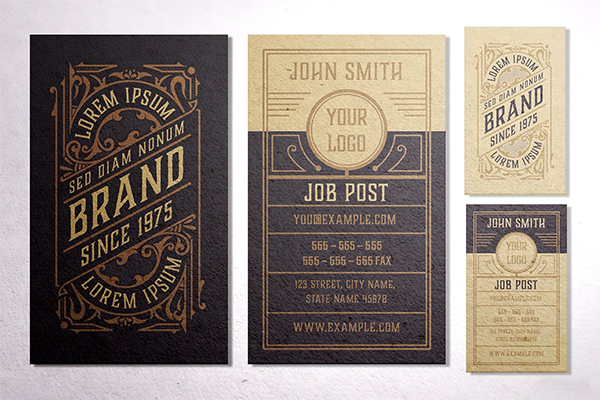 Vintage Business Card Design