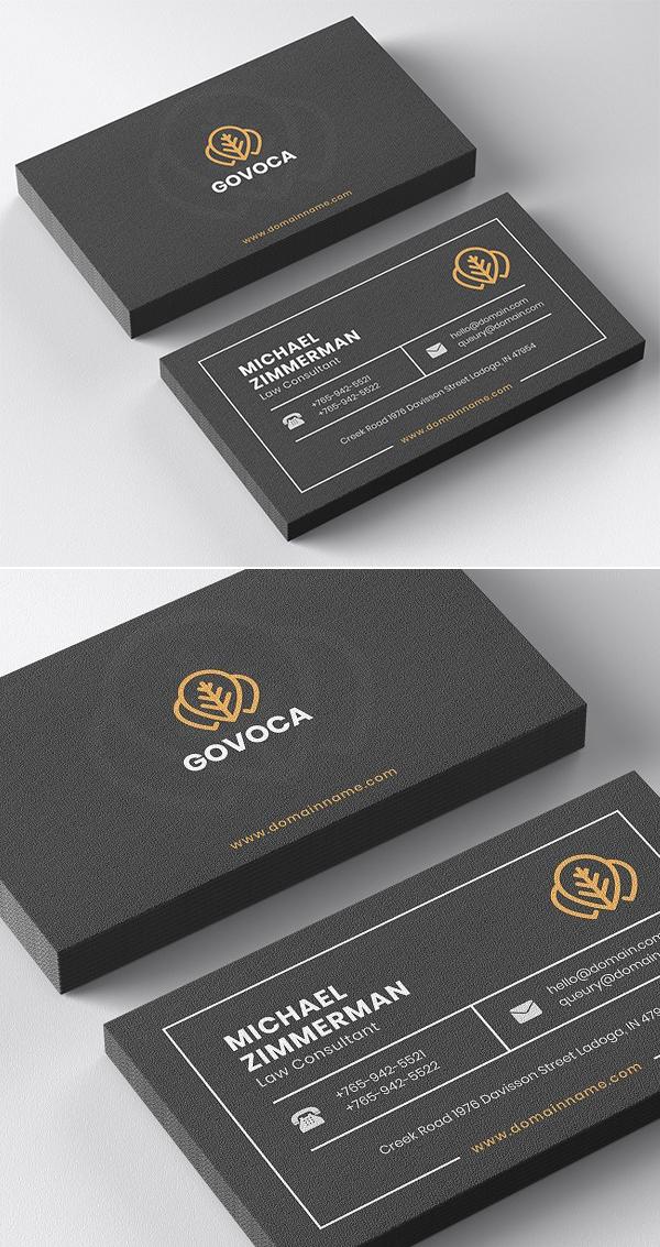Minimal Business Card & Mockup