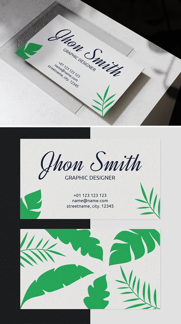 Tropical Business Card Template