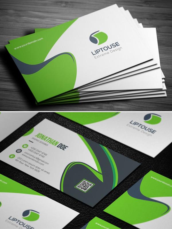 Green Business Card Template