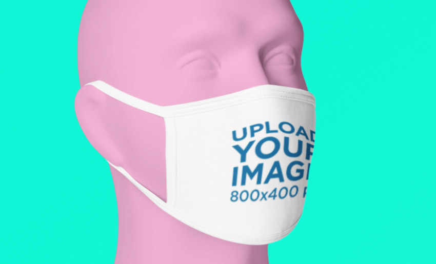 Fabric Mask Mockup on Mannequin