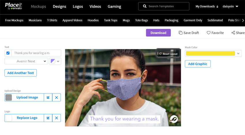 Face mask generator