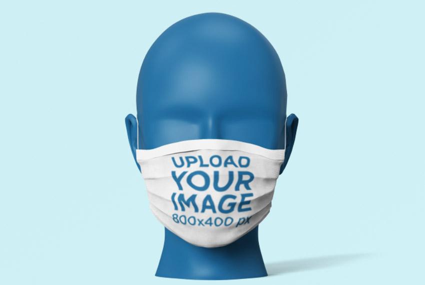 Mannequin Mouth Mask Mockup