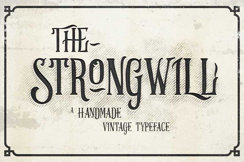 Strongwill Vintage Typeface