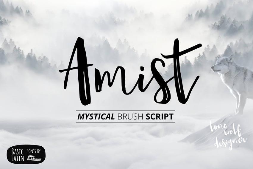 Amist Mystical Script Font