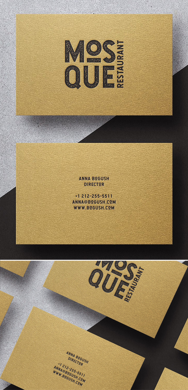Modern Minimal Business Card Template