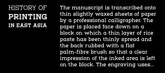 Marmo font sample 08