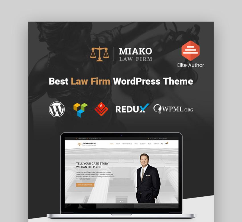 Miako law firm WordPress theme
