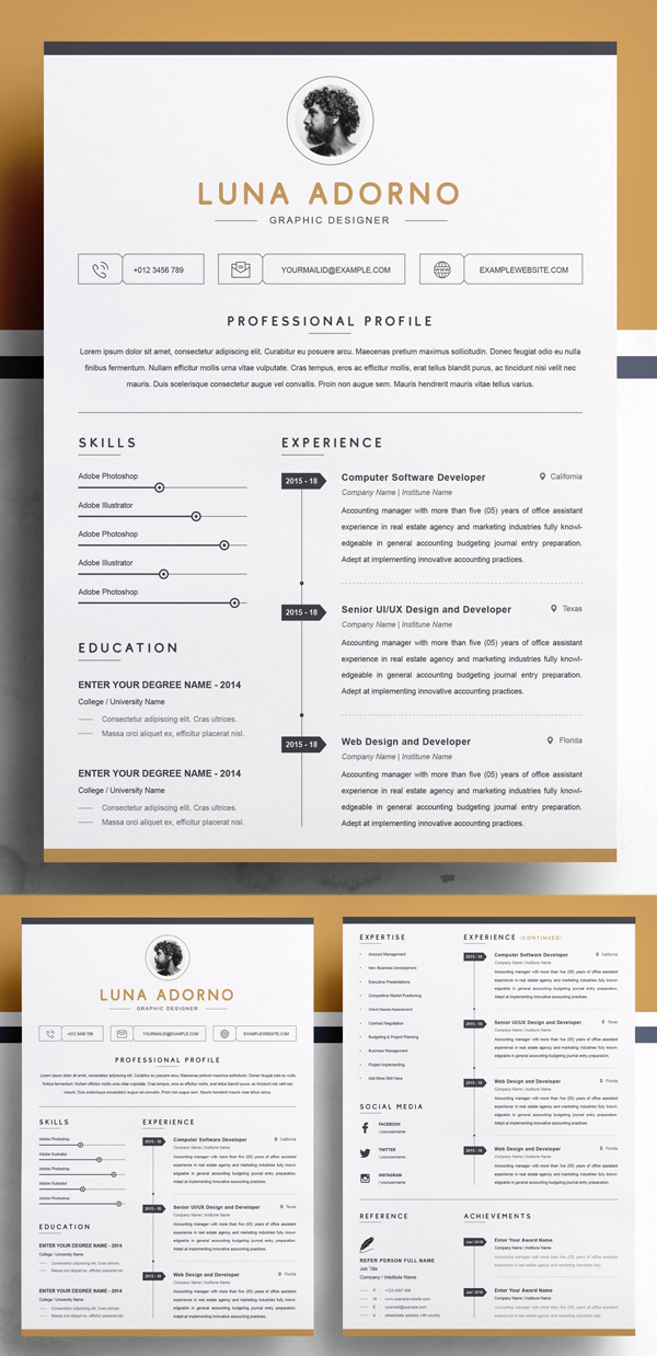 Professional & Clean Resume Template