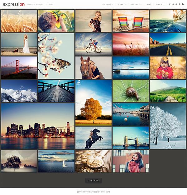 Expression Photography Responsive WordPress Theme
