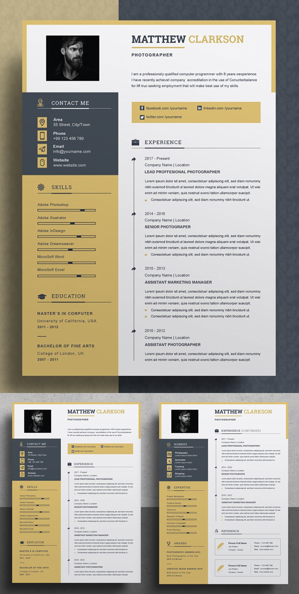 Elegant Word Resume / CV