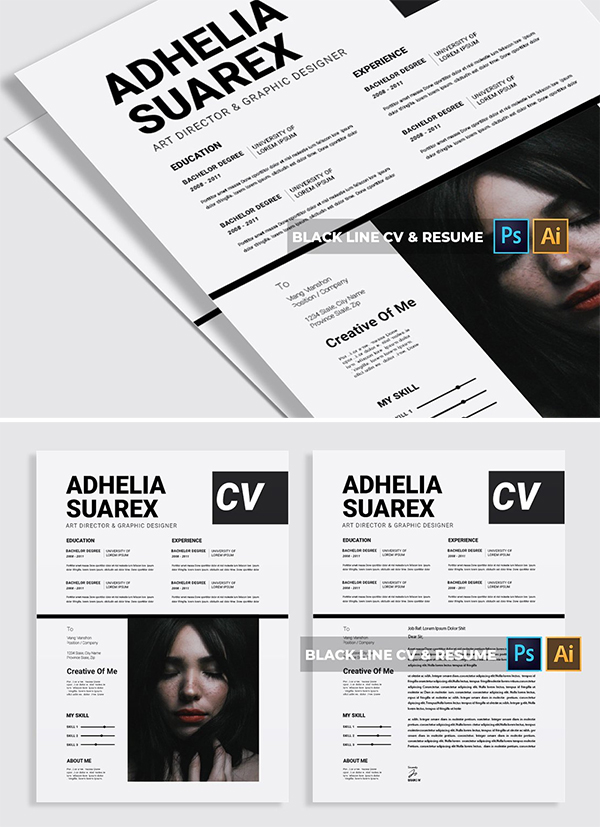 Black Line | CV & Resume