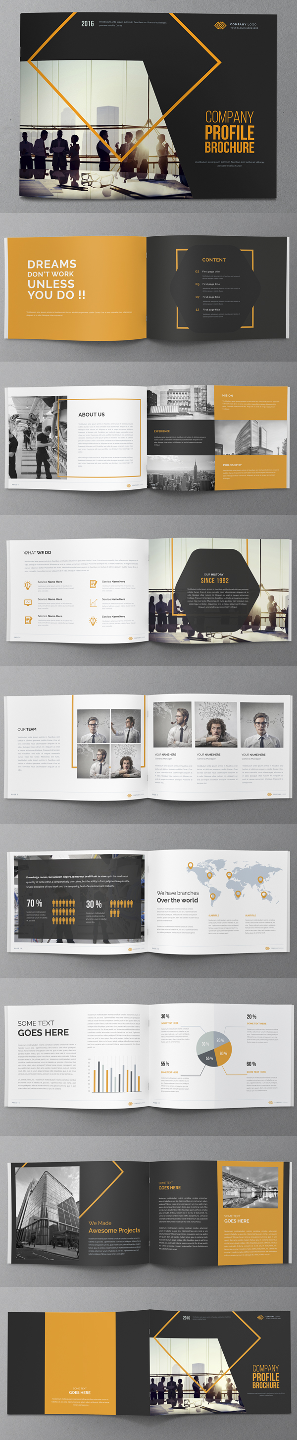 Creative Annual Report Brochure Design