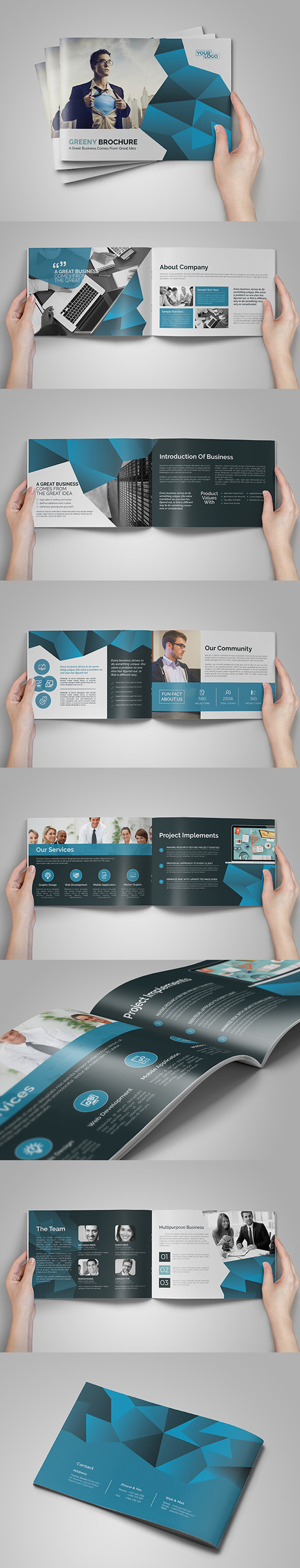 A5 Abstract Business Brochure/Catalog
